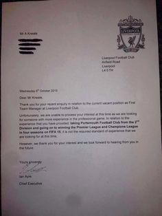 Dopo l'esonero di Brendan Rodgers un fan ha deciso di candidarsi come nuovo allenatore portando come referenza i successi a FIFA 15. Ecco la risposta del Liverpool FC