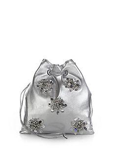 149c0d900a21 Miu Miu - Nappa Crystal-Embellished Drawstring Pouch