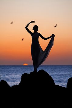 dance in the sunset