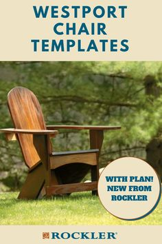 Extra-wide armrests and Adirondack-style geometry provide amazing comfort. Buy the optional stainless hardware for convenience and durability! #CreateWithConfidence #AdirondackChair #Template #WoodworkingPlan #OutdoorProject