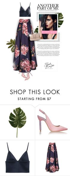 """""""..."""" by monazor ❤ liked on Polyvore featuring Sophia Webster, T By Alexander Wang, Valentino, chic, floralprint, summerstyle, womenfashion and summer2016"""