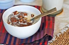 Teff Porridge with Honey, Dates and Cloves by girlcooksgrain: This simple, spiced, hot breakfast cereal is made with Ethiopia's favorite grain. Teff is a tiny grain higher in protein than wheat and has a high concentration of calcium, thiamine and iron. #Cereal #Ethiopian #Teff