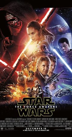 Directed by J.J. Abrams.  With Daisy Ridley, John Boyega, Oscar Isaac, Domhnall Gleeson. Three decades after the defeat of the Galactic Empire, a new threat arises. The First Order attempts to rule the galaxy and only a rag-tag group of heroes can stop them, along with the help of the Resistance.