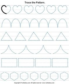 Check out Turtle Diary's large collection of Shapes worksheets for preschool. Make learning fun and easy with these great learning tools. Shape Worksheets For Preschool, Shape Tracing Worksheets, Preschool Writing, Numbers Preschool, Kindergarten Math Worksheets, Preschool Learning Activities, Kids Writing, Teaching Cursive Writing, Nursery Worksheets