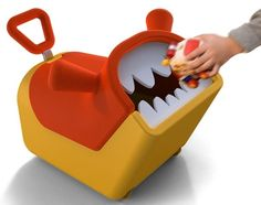 "A monster toybox that ""eats"" toys. 