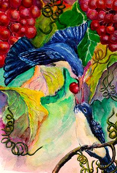 Bird Love - by Medea Ioseliani -  Hello and welcome to my Art World of colors and magic, I am an artist Medea Ioseliani and you are welcomed to visit my artist's workshop to get ideas for home decor or get some gift ideas and simply get inspired by art.  #decoridea #medeaart #fantasyart #artprint #colorful #walldecor #colorfulart #fineart #fineartprint #art  #artgallery #artwork #homedecor #decor #giftideas #gallery #artideas #painting #giftidea #artlover #arte Fine Art Drawing, Art Drawings, Artist Workshop, Unique Wall Decor, Decor Ideas, Gift Ideas, World Of Color, Art World, Love Art