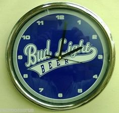 "Bud #light beer 12"" battery operated clock baseball #style logo #table wall new,  View more on the LINK: 	http://www.zeppy.io/product/gb/2/121266046687/"