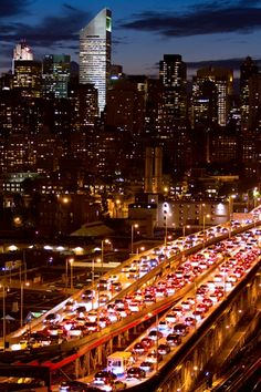 """NYC. A pinner says: """"Security checkpoints spur gridlock last night on the Queensboro Bridge, as well as throughout NYC, as the 9/11 anniversary approaches."""""""