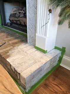 How to Add Herringbone Marble Tile to a Fireplace - Southern Hospitality Tile Around Fireplace, Home Fireplace, Fireplace Surrounds, Fireplace Ideas, Southern Hospitality, Marble Tiles, Herringbone, Family Room, House Design