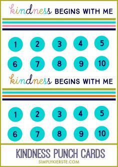 Are your kids arguing? Try Kindness Punch Cards!   simplykierste.com