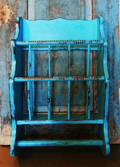 Turquoise Magazine Holder Shelf Towel Rack by turquoiserollerset, $26.00