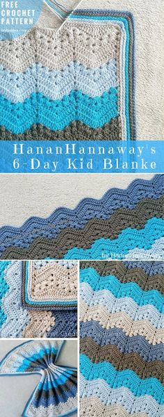 Nowhere near 6 Day Lapghan Free Crochet Pattern | DIY