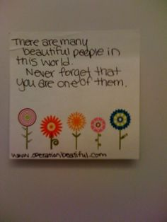 this makes me want to just put encouraging sticky notes in random places for random people!