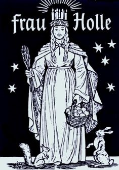 "http://carolynemerick.hubpages.com/hub/The-Forgotten-Female-Figures-of-Christmas Holda is known as the ""white lady"".  She is the wise, ancient crone who has learned the lessons of destiny and karma from a long well-lived life"