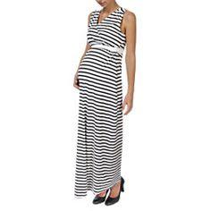 Sommerlich, bequem und einfach nur schön - so wünscht man sich doch ein Kleid für die #Schwangerschaft! Das hier im Steifenlook ist von BELLYBUTTON und betont den #Babybauch einfach wunderschön! #Umstandsmode #schwanger