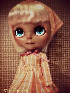 Georgia  OOAK Ethnic Custom Blythe Art Doll by MyDeliciousBliss, $750.00