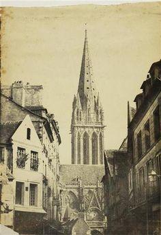 Caen, église Saint-Pierre, vue depuis la rue Montoir Poissonnerie , Ferdinand Tillard