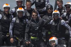 Tom Cruise spending a day with the crew of Emirates Team New Zealand.