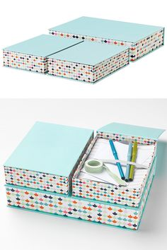IKEA Fan Favorite: HEJSAN boxes. Stylish desk accessories that are suitable for papers, photos, and other small things.