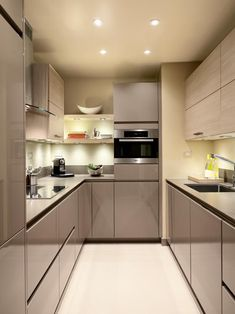 Galley Kitchen Design (Small, Unique, Modern Galley Kitchen Ideas) Domestic galley kitchen design permits plenty of woodwork to be put into a part of the kitchen, you can have a door or walkways at the finish of the run. galley kitchen d Best Kitchen Design, Galley Kitchen Design, Galley Kitchen Remodel, Kitchen Room Design, Kitchen Layout, Kitchen Colors, Interior Design Kitchen, Kitchen Decor, Kitchen Ideas