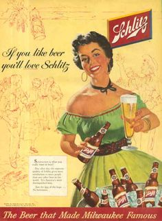 Vintage Beer Poster -  Schlitz