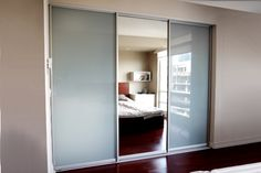 modern wardrobe with sliding doors white and mirror - Google Search