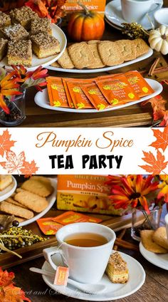 For next year. M/D Tea in Fall? Relax and enjoy a cup of hearty Pumpkin Spice tea on a beautiful fall afternoon. It's time to enjoy the colored trees, all things pumpkin & spices, and of course, good friends. Tea Recipes, Pumpkin Recipes, Fall Recipes, Party Recipes, Coffee Recipes, Pumpkin Spice Tea, Pumpkin Pumpkin, Tapas, Scones