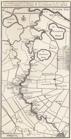 Kaart uit 1719 met onder meer kastelen en buitenplaatsen langs de Vecht. Kaart van de Vechtstreek en omgeving uit 1719 door Daniël Stoopendaal in De Zegepralende Vecht. In de kaart staan onder meer verschillende plaatsen, wateren en buitenplaatsen aangegeven.