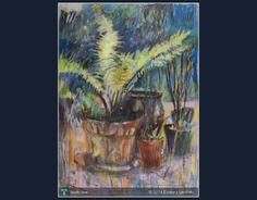 Paproć 2001   69 x 49 cm   sucha pastela