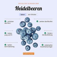 Freut ihr euch schon auf die Heidelbeer-Saison? Was wollt ihr damit zubereiten? Hier gibt es alle Fakten: eatsmarter.de/lexikon/warenkunde/superfood/heidelbeeren