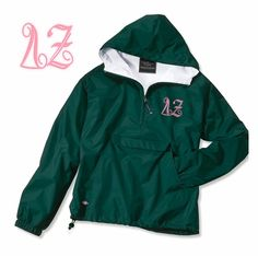 Delta Zeta Monogrammed Anorak SALE $44.95. - Greek Clothing and Merchandise - Greek Gear®