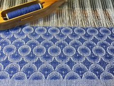 Lovely woven pattern (2015) by NY-based American weaver Hilary Cooper-Kenny. via the artist's site, Crazy as a Loom