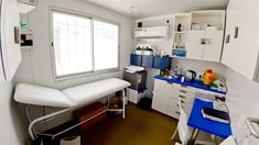 This modular nursing unit was produced by Topshell Containers, South Africa. South Africa, Corner Desk, Nursing, Container, Loft, The Unit, Cabinet, Storage, Bed