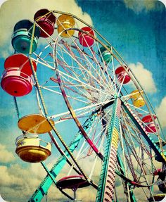 ferris wheel by screemgirl on DeviantArt Fair Rides, Carrousel, Wooden Jigsaw Puzzles, Carnival Rides, Fun Fair, Old Images, Vintage Circus, Photos, Pictures
