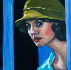 """Saatchi Online Artist: Corinne Korda; Oil 2013 Painting """"Sneak Peek"""""""
