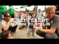 "A DIFFERENT REASON TO SMILE. Sanuk proudly presents ""A Different Reason To Smile"", a film that follows a fun-lovin' crew of Sanuk employees and professional surfers who traveled to Peru to work along side Operation Smile, an incredible charity that provides free surgeries to children born with cleft lips, palates and other facial deformities."