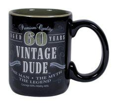 Vintage Dude 60 Mug, for a 60th birthday.