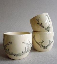 Antler Ceramic Espresso Cups – Set of 3