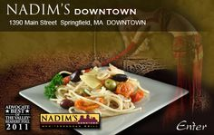 Welcome to Nadim's Medditerranean Restaurant and Grill | Nadim's Downtown, Springfield, MA | Natim's Mediterranean Restaurant and Grill, East Longmeadow, MA- an great food experience for children 8+. Or just date night...