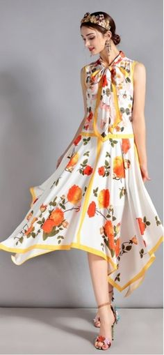 50+ Cute Floral Printed Dresses Ideas #floral #dresses #cute #outfits