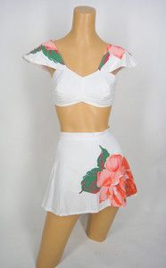 40s-50s Catalina 2pc Playsuit