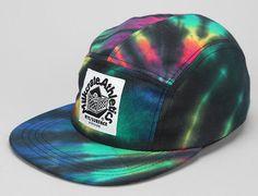 Tie-Dye 5 Panel Hat by MILKCRATE ATHLETICS