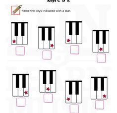 Keys C, D, E from Fun & Learn Music