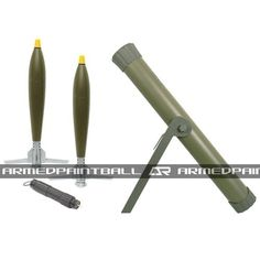 """The 70mm Paintball Rocker Mortar System powered by C02 and Water. The projectiles can fly high in the sky and come down landing. In every package you will receive 1 Launcher, 2 Mortar Projectiles, and 1 C02 Charger. Check out this package and many more products at www.armedpaintbal.com Also, check out and """"like"""" our facebook page for free giveaways! Simply click on the search bar and type in """"Armed Paintball Inc"""" for more information."""