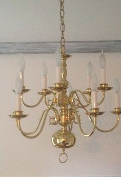 Making Over A Chandelier With Chalk Paint By Dear Lillie. Brass ChandelierCeiling  Fan With ChandelierPainted ...