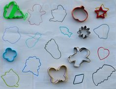 cookie cutter game (2 teams, each with their own sheet of outlines to fill...)
