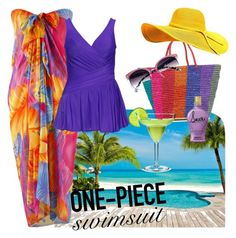 """""""I Feel Bright"""" by parnett on Polyvore featuring Magasin, Miraclesuit, Sensi Studio, stylishcurves and plussizeswimsuit"""