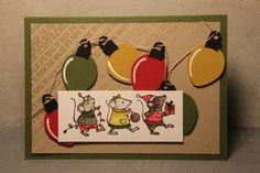 Deze muisjes staan al te wachten om kerst in huis te brengen, hoe schattig zou het zijn als ze je huis zouden versieren. Het ideetje van ...