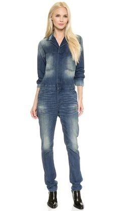 6397 Denim Jumpsuit #Shopbop