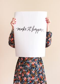 As if yesterday's free calendar roundup didn't get your ink flowing, I'm back today with two hand lettered printables from Jordan Brantley! You might remember Jordan from the printables she did… Impression Textile, Free Calendar, Printable Letters, Printable Art, No Rain, Modern Calligraphy, Wise Words, Free Printables, Easter Printables
